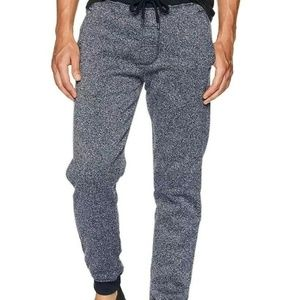 Southpole Mens Medium Fleece Marled Navy Jogger